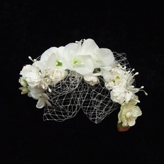 Lovely Artificial Silk/Tulle Flowers & Feathers