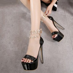 Women's Leatherette Stiletto Heel Sandals Platform shoes