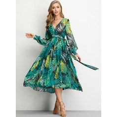Chiffon Maxi Dress (199222156)