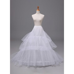 Women Polyester 4 Tiers Petticoats