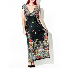 Spandex/Viscose With Print Maxi Dress (199127629)