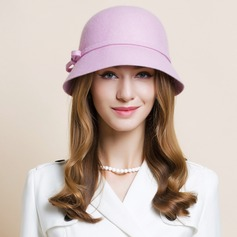 Ladies' Eye-catching Wool Bowler/Cloche Hat