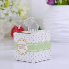 Lovely Elephant Cubic Favor Boxes