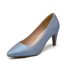 Women's Leatherette Cone Heel Pumps Closed Toe shoes