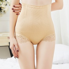 Women Feminine/Charming Chinlon/Nylon Breathability High Waist Panties/Waist Cinchers With Lace Shapewear