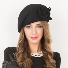 Ladies' Beautiful Wool With Flower Beret Hat (196106748)