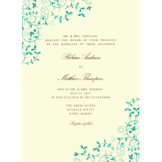 Garden Tale Wedding Cards