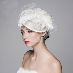 Ladies' Beautiful/Elegant Cambric With Feather/Silk Flower/Tulle Fascinators