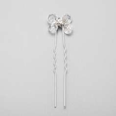 Simple Crystal/Rhinestone/Alloy Hairpins