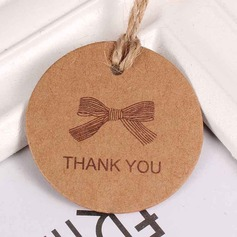 "100pcs ""Thank You""   Bow tie /Round Kraft Paper Tags"