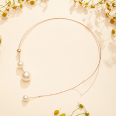 Unique Pearl/Gold Plated Necklaces