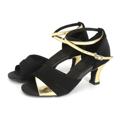 Women's Leatherette Sandals Latin With Hollow-out Dance Shoes
