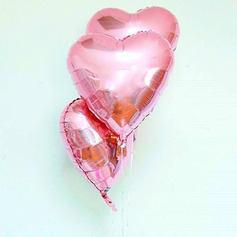 10pcs - 10inch Pink Heart Shaped Balloons