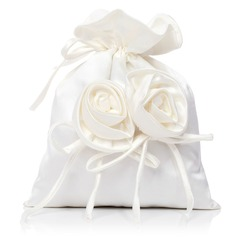 Lovely Satin With Flower Bridal Purse