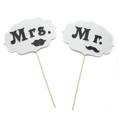 """Mr. & Mrs."" Sponge Photo Booth Props"