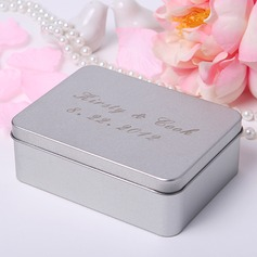 Personalized Name And Date Metal Jewelry Holders/Favor Tin