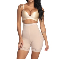 Women Classic/Charming Chinlon/Nylon Breathability/Moisture Permeability/Butt Lift High Waist Waist Cinchers/Shorts With Lace/Printing Shapewear (125210799)