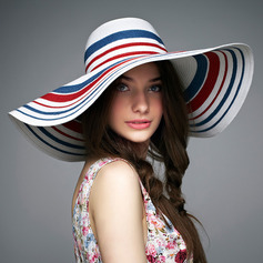 Ladies' Colorful Rattan Straw Floppy Hat/Straw Hat/Kentucky Derby Hats