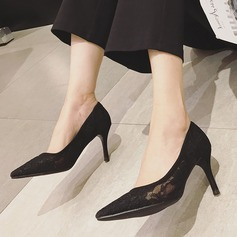 Women's Lace Stiletto Heel Pumps With Hollow-out shoes