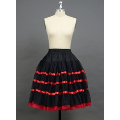 Women Tulle Netting/Polyester Knee-length 2 Tiers Petticoats