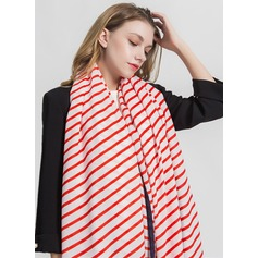 Striped Oversized/fashion Polyester Scarf