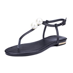 Women's Real Leather Flat Heel Sandals Slingbacks shoes
