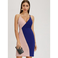 Sheath/Column V-neck Short/Mini Homecoming Dress