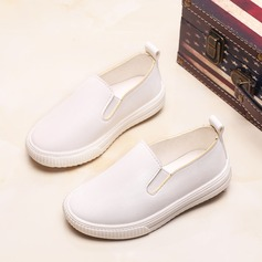 Unisex Closed Toe Loafers & Slip-Ons Leatherette Flat Heel Flats