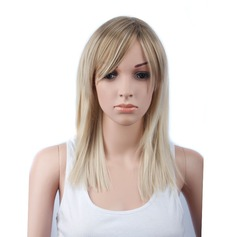 Straight Mid-Length Long Synthetic Wigs (Sold in a single piece)