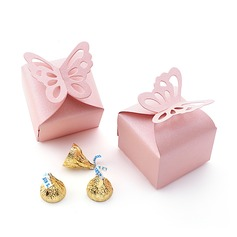 Butterfly Top Cubic Pearl Paper Favor Boxes
