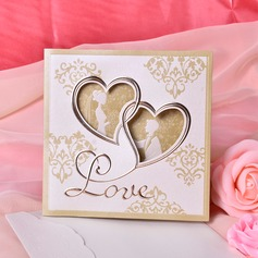 Heart Style Tri-Fold Invitation Cards  (114033287)