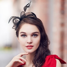 Ladies' Gorgeous/Glamourous/Elegant Cambric With Feather Fascinators