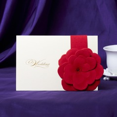 Blomstrete Stil Top Fold Invitation Cards