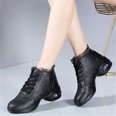 Women's Leatherette Lace Sneakers Modern Jazz Sneakers Dance Shoes