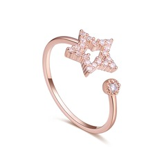 Fashional Copper/Zircon With Cubic Zirconia Ladies' Rings