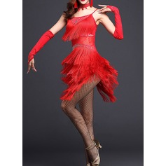 Women's Dancewear Polyester Latin Dance Dresses (115087956)