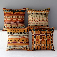 Africa Pattern Cotton/Linen Home Sofa  Pillowcases (Sold in a single piece)