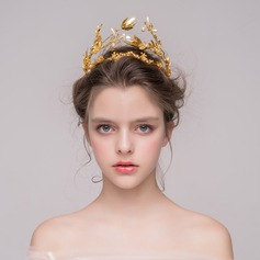 Gorgeous Imitation Pearls/Gold Plated Tiaras