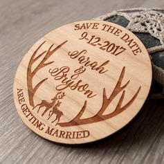 Personalized Wooden Save-the-date Magnets