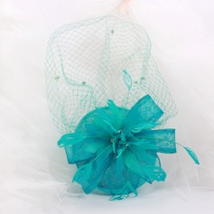 Ladies' Fashion Cambric/Feather/Net Yarn With Bowknot/Tulle Fascinators
