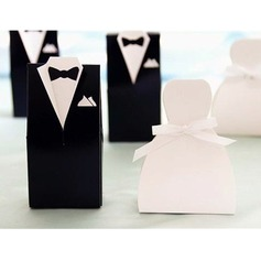 Wedding Dress, Tuxedo Favor Boxes