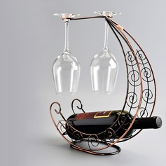 Moon Boat Design Stainless Steel/Plating Bottle Holder / Wine Rack