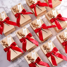 Classic Cuboid Card Paper Favor Boxes & Containers With Ribbons