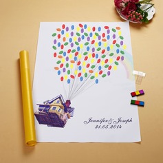 "Personalized ""Up"" Canvas Fingerprint Painting"