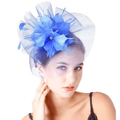 Ladies' Pretty Feather/Net Yarn With Feather Fascinators