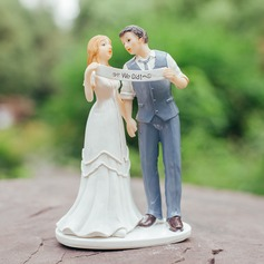 """We Did"" Figurine Resin Cake Topper"