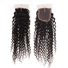 "4""*4"" 4A Kinky Curly Human Hair Closure (Sold in a single piece)"