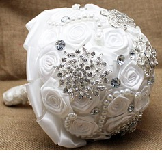 Pure Round Satin Bridal Bouquets -
