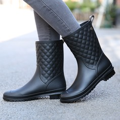 Women's PVC Low Heel Boots Mid-Calf Boots Rain Boots With Others shoes (088131034)