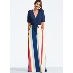 Polyester With Print Maxi Dress (199173837)
